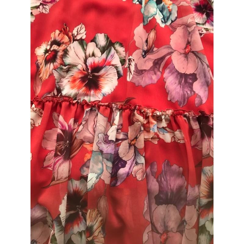 Vestido comprido floral OKY